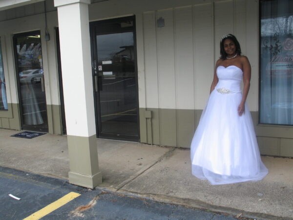 Low Cut Princess Ball Gown